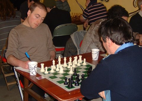 Roger Williamson (left) and Nick Hawkins in the Open.